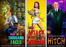 Aurora Monster Kits 50 Foot Woman, Hitch, Man Of A 1000 Faces Sticker or Magnet