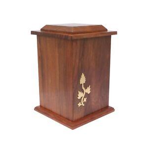 Cremation Urn Adult Urn For Ashes Wooden Memorial Extra Large Wood Casket Urn