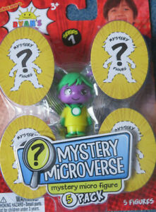 Ryan's World MYSTERY MICROVERSE Surprise 5 Pack Micro Figures Series 1