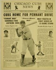 Sep 2 1939 Chicago Cubs News Newsletter Bill Nicholson Cover Baseball Slaughter