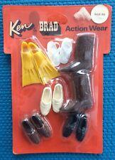 VINTAGE MATTEL KEN & BRAD ACTION WEAR Shoes & Footwear Pack (Barbie) 1970 MIB