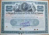1905 Railroad Bond Certificate: 'Chicago, Rock Island & Pacific Railway Co.'