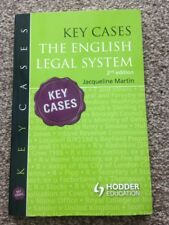 Book - Key Cases - The English Legal System 2nd Edition - Jacqueline Martin