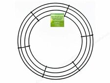 """Round Wire Wreath Frame Form 14"""", Green for Floral, Burlap Wreathmaking Supply"""