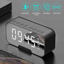 Multifunktion Radiowecker Bluetooth Lautsprecher Uhrenradio Spiegelbildschirm DE