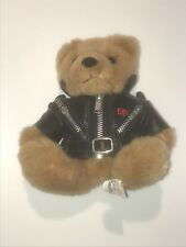 Elvis Presley Graceland teddy bear with Black Leather Jacket, 3 zippers and belt