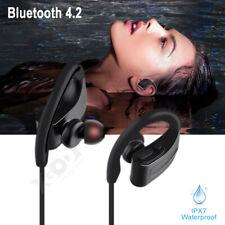 IPX7 Wireless Bluetooth4.2 Earphones Headset Super Bass Sports Headphones w/ Mic