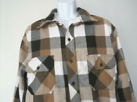 BROWN Plaid BUTTON DOWN LONG SLEEVE SHIRT Triveni 3xl-4xl xxxxl men's big & tall