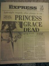 Daily Express Newspaper-Sept 15 1982-Princess Grace Dead after Car Plunge.