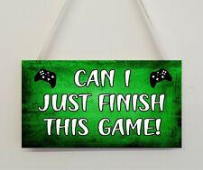 Novelty Gaming Sign Plaque Gamer XBOX Gift For Dad Son Brother Boys Bedroom