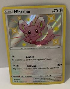 Pokemon - Minccino - SV093/SV122 - Shiny Holo Rare - Shining Fates MINT