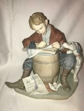 "Lladro ""Love Letter"" #1406 Norman Rockwell Collection, Missing Pen."