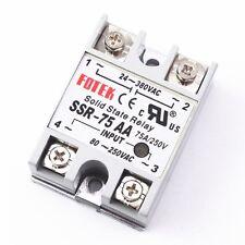 10pcs SSR-75AA 75A Solid State Relay Module 80-250V AC Input 24-380VAC