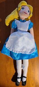 "Disney Store Alice In Wonderland 20"" Alice Plush Soft Doll AD2"