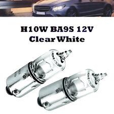 2 x H10W BA9S 12V Clear White Xenon Look Halogen Lampen Super White für BMW