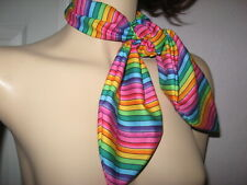 Rainbow striped Head Tie Lolita Scarf Party hippy pride Festival holiday unisex