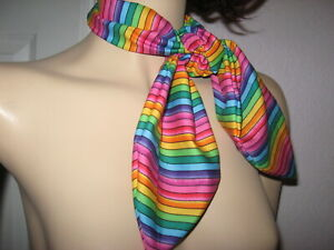 Rainbow striped Head Tie Lolita Scarf Party hippy pride Festival holiday unisex