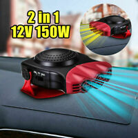 12V Car Auto Portable Electric Heater Heating Cooling Fan Defroster Demister Red