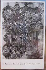 Irish RPPC Chi Rho PAGE FROM THE BOOK OF KELLS Dublin Ireland Trinity Library