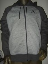 Men's Lg Gray Nike Air Jordan Retro 3 Jump Man Basketball Zip Up Hoodie Sweater
