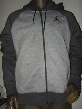 85940523d2b2 Men s Lg Gray Nike Air Jordan Retro 3 Jump Man Basketball Zip Up Hoodie  Sweater