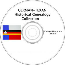 German-Texan Heritage Genealogy Vintage Book Collection on CD