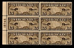 Airmail Plate Blocks: C8, C19, and C20; All Mint Never Hinged