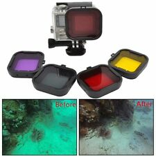 4 Colors Underwater Diving Filter Lens Cover For GoPro HD Hero 4 3+ Housing Case