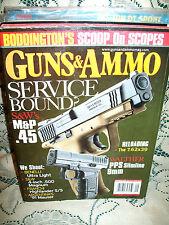 GUNS & AMMO 9/2007~S&W M&P 5~FRANCHI HIGHLANDER~WALTHER PPS SLIMLINE~91 MAUSER