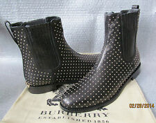 NWB BURBERRY Ardglass Dress Pull-On Leather Studded boots  MSRP $950 size 7.5