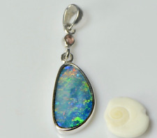 Opal Necklace, Australian Natural Opal, Opal Necklace,Opal Jewellery, Garnet
