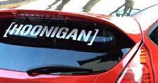 Hoonigan Ken Block Etiqueta engomada del parabrisas cualquier color JDM Stance Drift cardecal 58cm