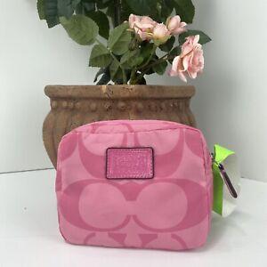 Coach Packable Bag Pink Signature Nylon Large Shoulder Tote Pouch  B3M