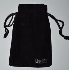Black Velvet KRISTINE Accesories Jewelry Draw String Bag
