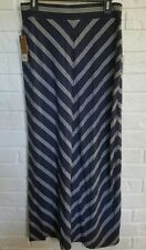 NWT SONOMA striped Maxi Skirt Navy Stripped, Size SMALL NEW $30
