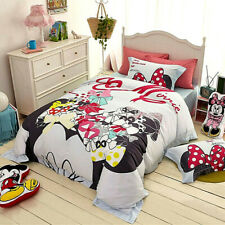 5pc. MINNIE MOUSE GIRLS BLUE 100% COTTON TWIN FULL QUEEN COMFORTER SET