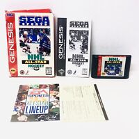 NHL All-Star Hockey 95 Sega Genesis 1995 CIB Complete Video Game TESTED!