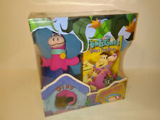 SEALED Vtg The Flintstones Dino's Two Tales Dino Plush And VHS Box Set 1994