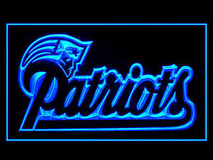 New England Patriots LED Neon Sign Light NFL Football Sports Team Red Blue Green