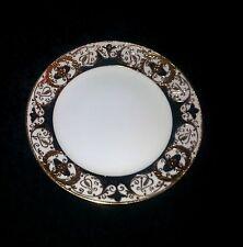 Noritake China 20056 Vintage Elegant Black & Gold Encrusted Dinner Plate Japan