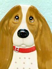 Pioneer woman Charlie the Basset Hound Spoon Rest Ceramic Kitchen Dog New Cute