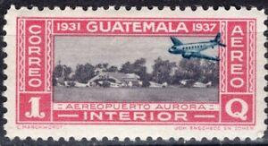 GUATEMALA 1937 AIR MAIL STAMP Sc. # C 79 MH