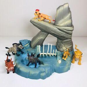 Vintage   Mattel Disney   Lion King   Pride Rock Playset With Figures