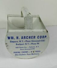 Vintage WM Archer Grain Scoop Purina Chows Allis-Chalmers Farm Machinery NY
