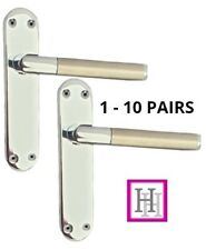Stylish Georgian Chrome Door Handles Lever Latch Roped Edge Door Handles D1