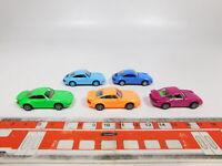 CG261-0,5# 5x Euromodell H0/1:87 PKW-Modell Porsche: 911 etc, TOP