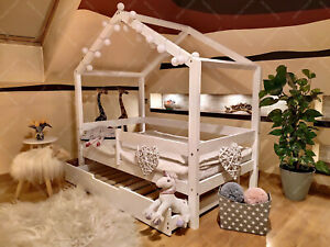 Children bed House, House bed, bed for children Toddler Bed Drawer 10 Days 🚚