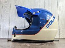 New ListingPolaris Snowmobile Helmet Vintage No Shield Blue & White Size S or M