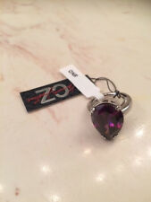 Brand NEW - CZ by Kenneth Jay Lane Pear CZ Prong Ring  - Purple - Free Shipping