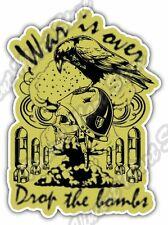 "War Is Over Nuclear Bomb Skull Gift Idea Car Bumper Vinyl Sticker Decal 4""X5"""